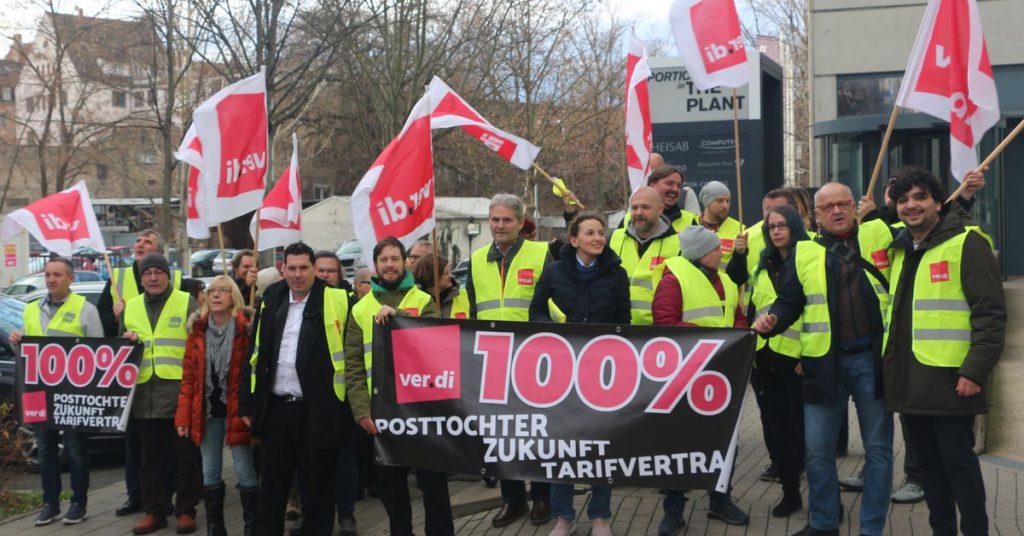 Für eine Tarifbindung der Deutsche Post Customer Service Center GmbH in Fürth!